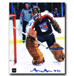 Gilles Gratton New York Rangers Autographed 8x10 Photo - CoJo Sport Collectables Inc.