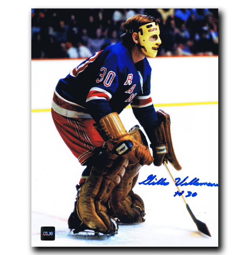 Gilles Villemure New York Rangers Autographed 8x10 Photo CoJo Sport Collectables Inc.