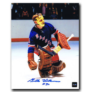 Gilles Villemure New York Rangers Autographed 8x10 Photo - CoJo Sport Collectables Inc.