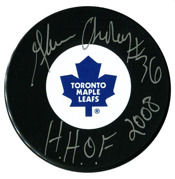 Glenn Anderson Autographed Toronto Maple Leafs HOF Puck Autographed Hockey Pucks CoJo Sport Collectables