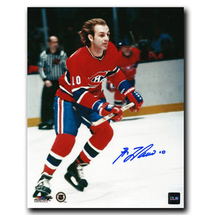 Guy Lafleur Montreal Canadiens Autographed Action 8x10 Photo - CoJo Sport Collectables Inc.