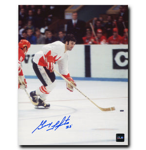 Guy Lapointe Team Canada Autographed 1972 Summit Series 8x10 Photo