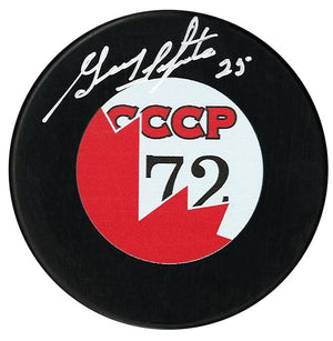 Guy Lapointe Team Canada Autographed 1972 Summit Series Puck
