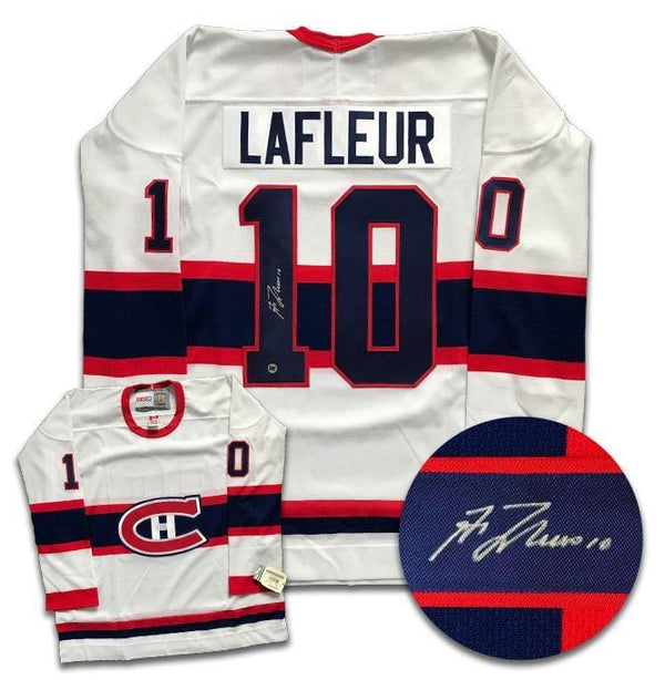 Guy Lafleur Montreal Canadiens Autographed CCM Jersey Autographed Hockey Jerseys CoJo Sport Collectables