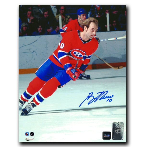 Guy Lafleur Montreal Canadiens Autographed Skating 8x10 Photo