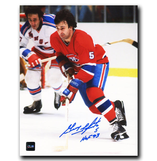 Guy Lapointe Montreal Canadiens Autographed 8x10 Photo - CoJo Sport Collectables Inc.