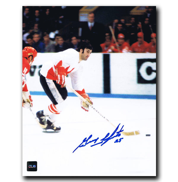 Guy Lapointe Team Canada Autographed 8x10 Photo - CoJo Sport Collectables Inc.