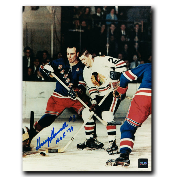 Harry Howell New York Rangers Autographed Mikita 8x10 Photo - CoJo Sport Collectables Inc.