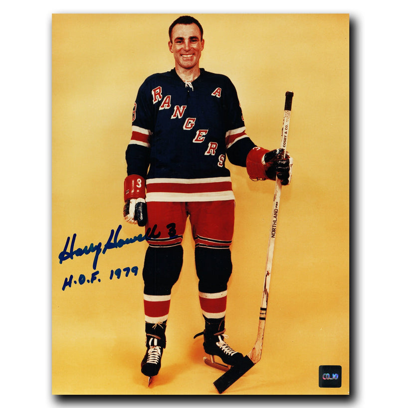 Harry Howell New York Rangers Autographed Photoshoot 8x10 Photo CoJo Sport Collectables Inc.