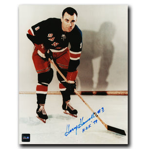 Harry Howell New York Rangers Autographed Portrait 8x10 Photo - CoJo Sport Collectables Inc.