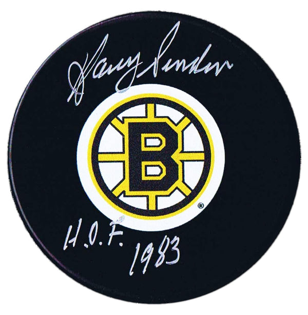 Harry Sinden Autographed Boston Bruins HOF Puck - CoJo Sport Collectables Inc.