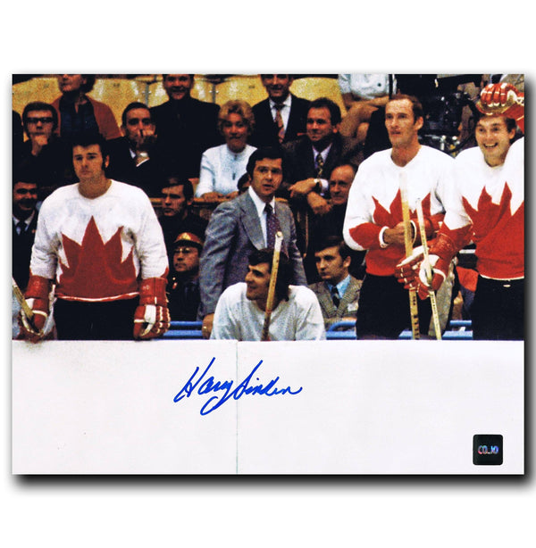 Harry Sinden Team Canada Autographed 8x10 Photo - CoJo Sport Collectables Inc.