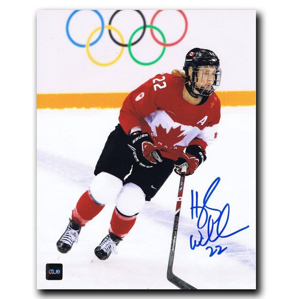 Hayley Wickenheiser Team Canada Autographed 8x10 Photo - CoJo Sport Collectables Inc.