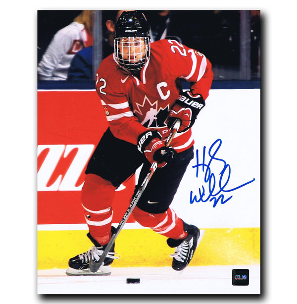 Hayley Wickenheiser Team Canada Autographed 8x10 Photo Autographed Hockey 8x10 Photos CoJo Sport Collectables