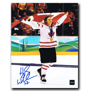 Hayley Wickenheiser Team Canada Autographed Gold Medal 8x10 Photo Autographed Hockey 8x10 Photos CoJo Sport Collectables
