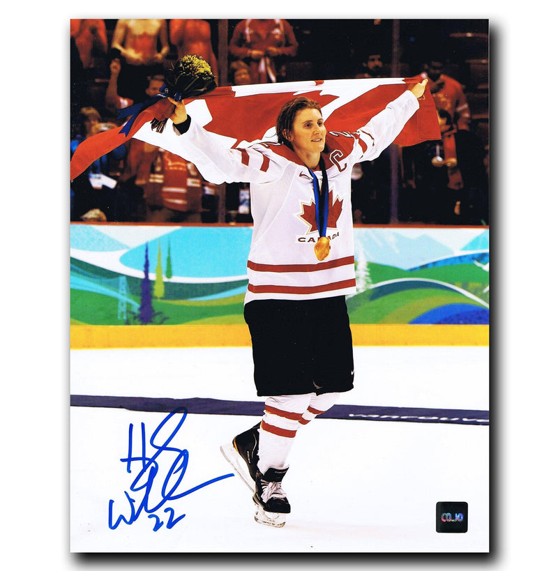 Hayley Wickenheiser Team Canada Autographed Gold Medal 8x10 Photo CoJo Sport Collectables