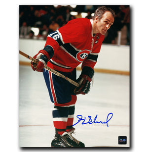 Henri Richard Montreal Canadiens Autographed Leaning 8x10 Photo - CoJo Sport Collectables Inc.