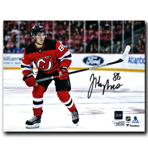 Jack Hughes New Jersey Devils Autographed Action 8x10 Photo