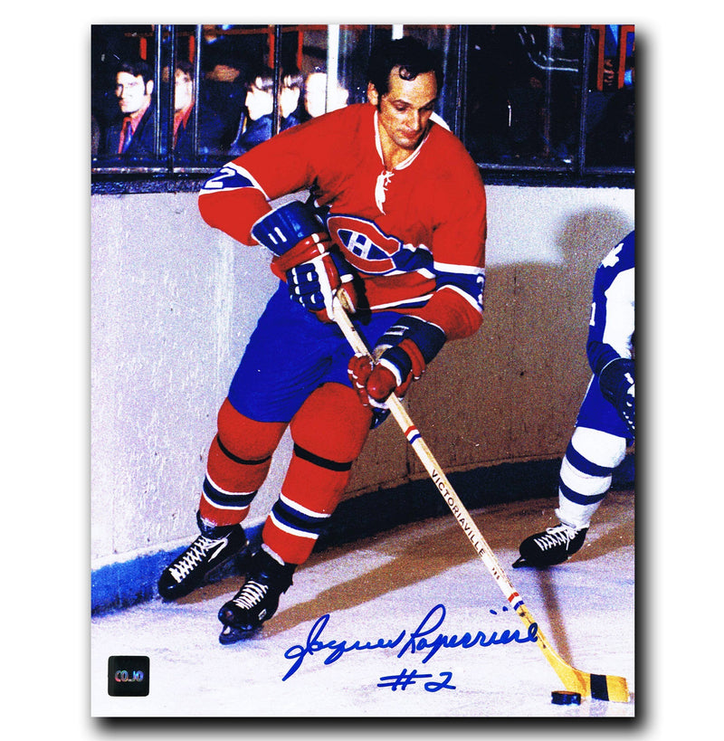 Jacques Laperriere Montreal Canadiens Autographed 8x10 Photo - CoJo Sport Collectables Inc.