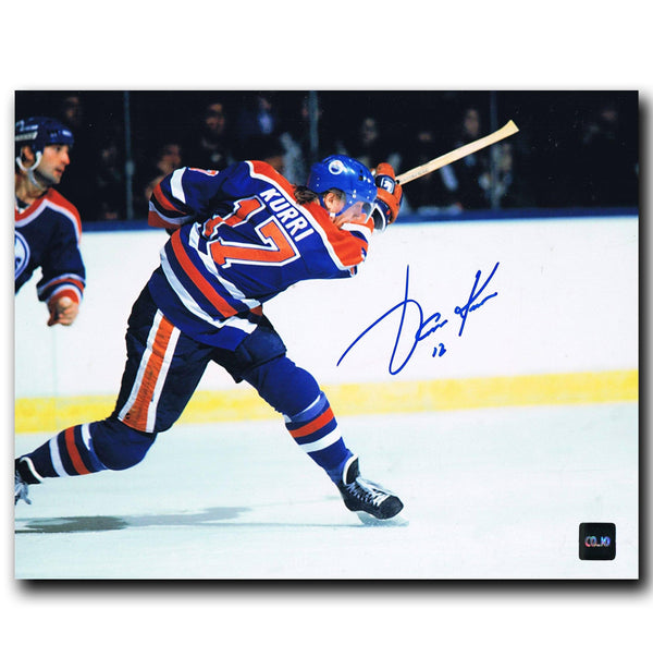 Jari Kurri Edmonton Oilers Autographed 8x10 Photo - CoJo Sport Collectables Inc.