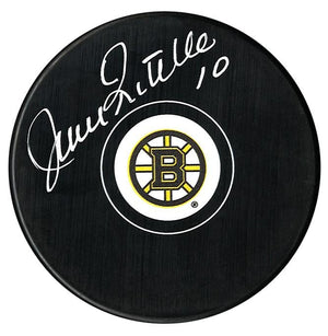 Jean Ratelle Autographed Boston Bruins Puck