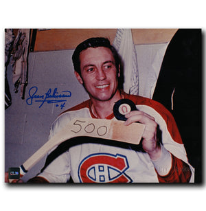 Jean Beliveau Montreal Canadiens Autographed 500 Goals 8x10 Photo - CoJo Sport Collectables Inc.