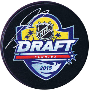 Jeremy Bracco Toronto Maple Leafs Autographed 2015 Draft Puck - CoJo Sport Collectables Inc.