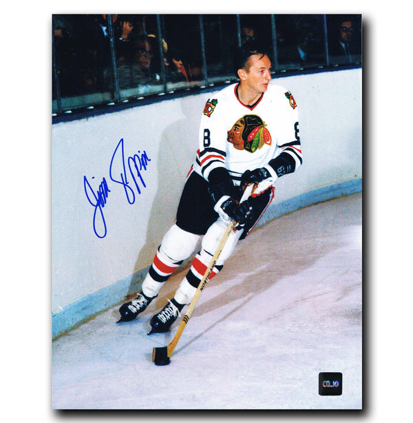 Jim Pappin Chicago Blackhawks Autographed 8x10 Photo - CoJo Sport Collectables Inc.