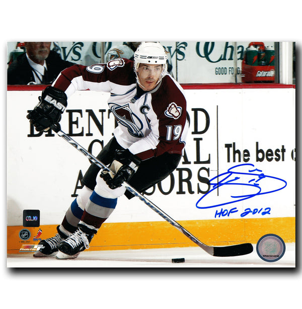 Joe Sakic Colorado Avalanche Autographed Action 8x10 Photo - CoJo Sport Collectables Inc.