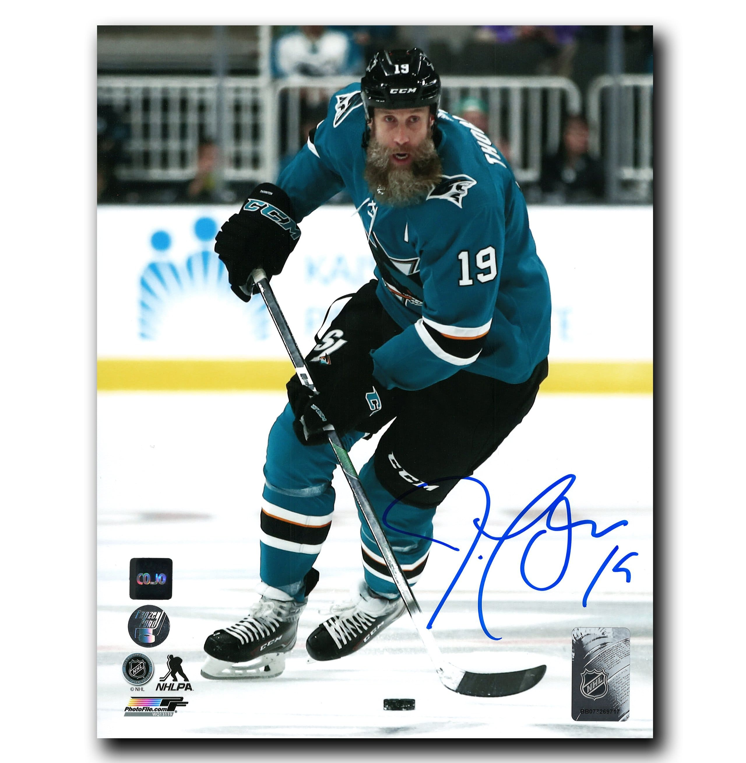 Joe Thornton San Jose Sharks Autographed Action 8x10 Photo