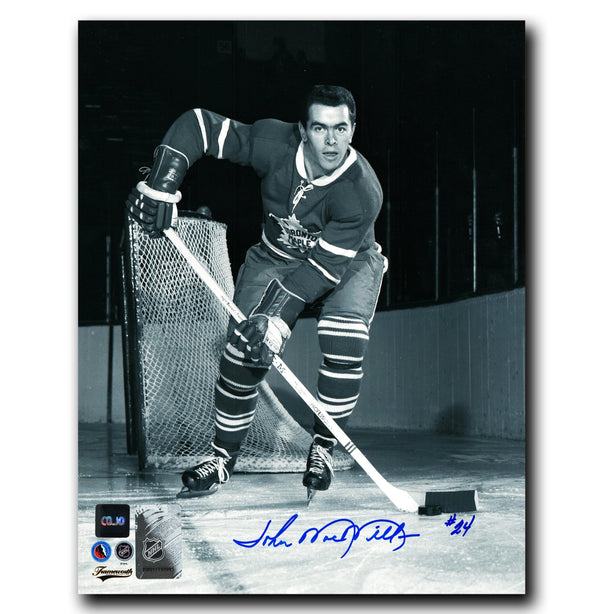 John MacMillan Toronto Maple Leafs Autographed Photoshoot 8x10 Photo - CoJo Sport Collectables Inc.