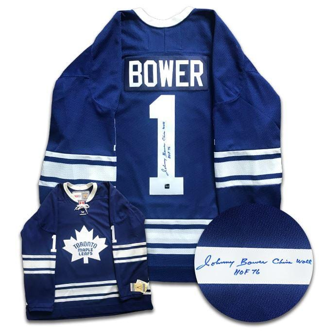 Johnny Bower Toronto Maple Leafs Autographed CCM Jersey CoJo Sport Collectables