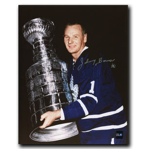 Johnny Bower Toronto Maple Leafs Autographed Stanley Cup 8x10 Photo - CoJo Sport Collectables Inc.