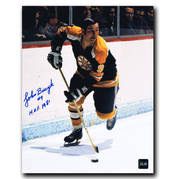 Johnny Bucyk Boston Bruins Autographed 8x10 Photo Autographed Hockey 8x10 Photos CoJo Sport Collectables
