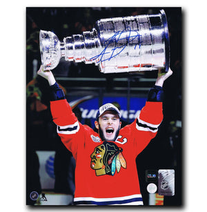 Jonathan Toews Chicago Blackhawks Autographed Stanley Cup 8x10 Photo Autographed Hockey 8x10 Photos CoJo Sport Collectables