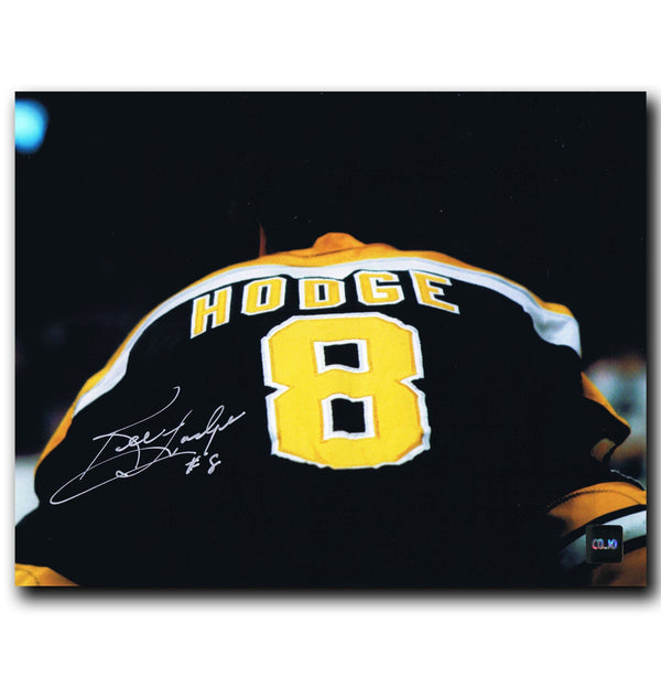 Ken Hodge Boston Bruins Autographed Jersey 8x10 Photo - CoJo Sport Collectables Inc.