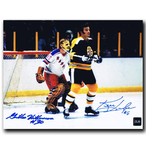 Ken Hodge / Gilles Villemure Dual Autographed 8x10 Photo Autographed Hockey 8x10 Photos CoJo Sport Collectables