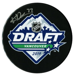 Kirby Dach Chicago Blackhawks Autographed 2019 NHL Draft Puck - CoJo Sport Collectables Inc.