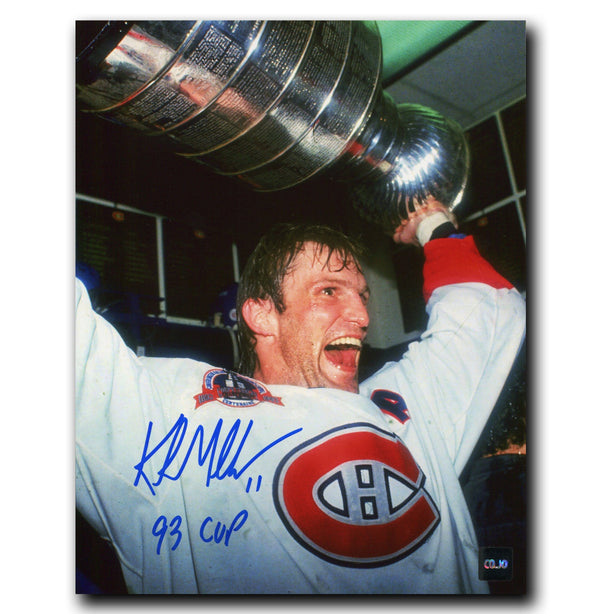 Kirk Muller Montreal Canadiens Autographed Stanley Cup 8x10 Photo