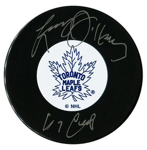 Larry Jeffrey Autographed Toronto Maple Leafs 67 Cup Puck - CoJo Sport Collectables Inc.