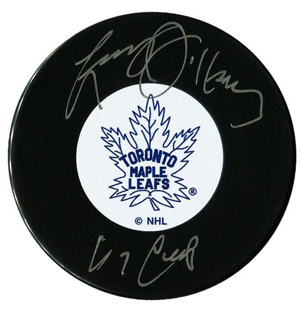 Larry Jeffrey Autographed Toronto Maple Leafs 67 Cup Puck Autographed Hockey Pucks CoJo Sport Collectables