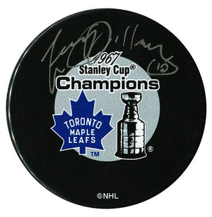 Larry Jeffrey Toronto Maple Leafs Autographed 1967 Stanley Cup Champions Puck Autographed Hockey Pucks CoJo Sport Collectables