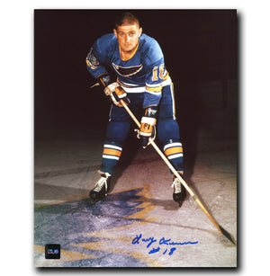 Larry Keenan St. Louis Blues Autographed 8x10 Photo - CoJo Sport Collectables Inc.