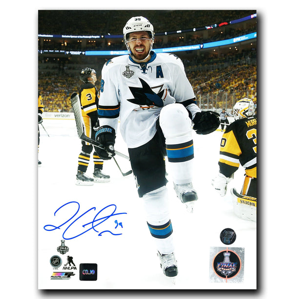 Logan Couture San Jose Sharks Autographed Goal Celebration 8x10 Photo - CoJo Sport Collectables Inc.