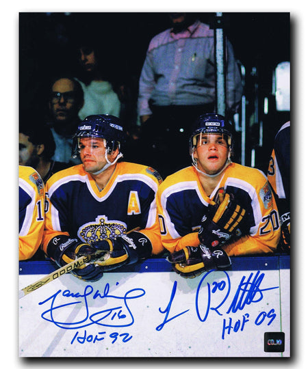 Luc Robitaille / Marcel Dionne Los Angeles Kings Autographed 8x10 Photo Autographed Hockey 8x10 Photos CoJo Sport Collectables