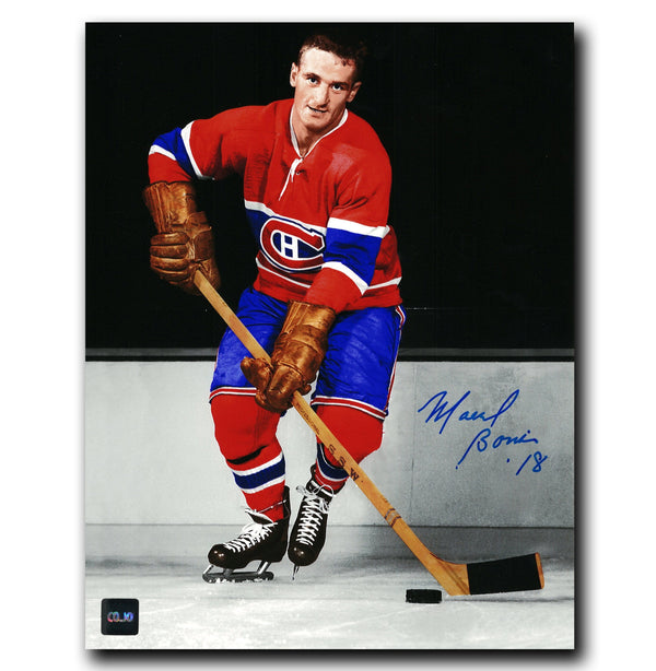 Marcel Bonin Montreal Canadiens Autographed Spotlight 8x10 Photo