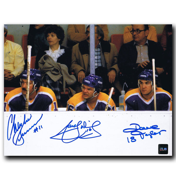 Marcel Dionne, Dave Taylor, Charlie Simmer Los Angeles Kings Autographed Triple Crown Line 8x10 Photo - CoJo Sport Collectables Inc.