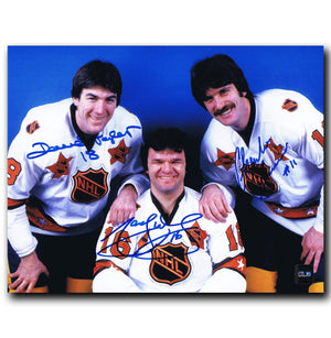Marcel Dionne, Dave Taylor, Charlie Simmer NHL All Star Autographed Triple Crown Line 8x10 Photo - CoJo Sport Collectables Inc.