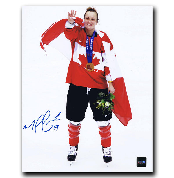 Marie-Philip Poulin Team Canada Autographed 8x10 Photo - CoJo Sport Collectables Inc.