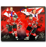 Marie-Philip Poulin and Hayley Wickenheiser Team Canada Dual Autographed Limited Edition 16x20 Photo - CoJo Sport Collectables Inc.